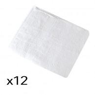 12 Toallas barbería / Peluquería Blancas 100% algodón 40 x 80 / 380 gr M2