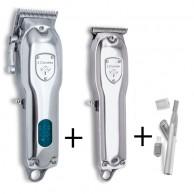 3 claveles - Máquina Cortapelos  + Trimmer Pack Barber Combo Profesional inalámbrico Edición Limitada metal + Regalo máquina retoque