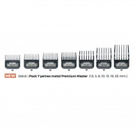 Andis 33645 Pack 7 peines metal Premium Master (1.5, 3, 6, 10, 13, 19, 25 mm.)