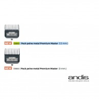 Andis 33660 Pack peine metal Premium Master 1.5 mm. | Peines metal premium cortapelos Andis