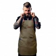 Artero Delantal Peto Marrón Barber para barbería | Mandil hebillas piel  barbería profesional  | Mejor delantal barberia | Venta delantal peluquería barato | Oferta 30 Descuento delantal barbero | Mandiles barberos