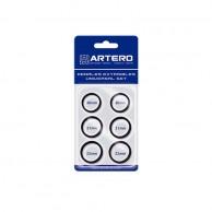 Artero set dedales negros para tijeras 6 unid | Comprar dedal para Tijeras Peluquería   | Artero dedal negro mejor precio