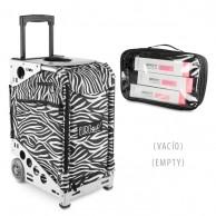 Bolsa Trolley Zebra con Ruedas Peluquería y estética  | trolley peluquería | Comprar Maleta peluquera estética y maquillaje al mejor precio | Oferta
