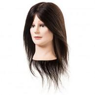 Maniquí cabello natural REMY 45-50 cm con pestañas postizas Chloe