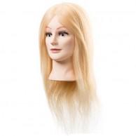 Cabeza de Maniquí cabello natural rubio 45-50 cm con pestañas postizas sophie