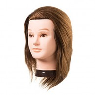 Cabeza de Maniquí Joe Largo 15-18 cm 100% Cabello 100% Natural
