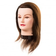 Cabeza de Maniquí Lucycon barba Largo 20-30 cm 100% Cabello Natural