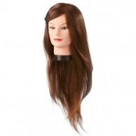 Cabeza Maniquí Daisy 55-60 cm pelo natural 100% Cabello Natural castaño claro| Comprar Cabeza de Peluquería Barata | Venta Cabezas de Maniquíes para Academia al Mejor Precio | Oferta
