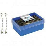 Caja 150 Clips ondulados Largos Bronce Eurostil 70 Mm peluquería| Comprar clips para el pelo baratos | Clips peluquería al mejor precio | Venta de clips para el pelo profesionales | clips para el cabello