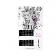 Caja 300 Clips Negris Doble Onda Eurostil 50Mm peluquería | Comprar clips para el pelo baratos | Clips peluquería al mejor precio | Venta de clips para el pelo profesionales | clips para el cabello