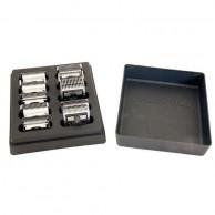 Caja para 10 cabezales + bandeja limpieza para cabezales cortapelo