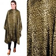 Capa leopardo Amarilla negra  150 x 145  Corte y tintura con Velcro |  Mejor precio capas con velcro | comprar Capa de corte leopardo Oferta  Peinadora con velcro