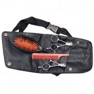 Cinturón porta útiles estuche para herramientas peluquería Cintura Simil Piel Negro 13,5X22 | Comprar Porta Utiles Cintura Simil Piel Negro herramientas de peluquería  | Cartuchera cintura para herramientas barberia