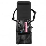 Cinturón porta útiles estuche para herramientas peluquería  y barbería Cintura Simil Piel Negro 13,5X22