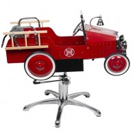 Silla Infantil de Peluquería Roja Vintage Bomberos