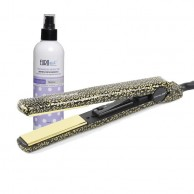 Corioliss CityStyle Gold Leopard Plancha + Protector Térmico