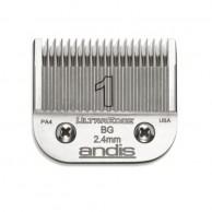 Cuchilla Andis ultradege Blade N1  2.4 mm Cabezal Andis 64070