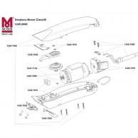 Despiece de Cortapelos Moser Class 45 Piezas de Repuesto
