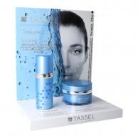 Expositor Hyaluronic Crema y Sérum Hidratación Profunda Tassel para pieles deshidratadas