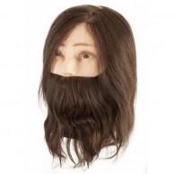 Maniquí de Peluquería Cabeza con Barba Pelo Natural