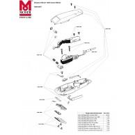 Despiece de Cortapelos Moser 1400 Rojo Repuestos y Recambios