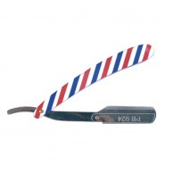 Navaja de Corte Decorada con Dibujo Pole Barber Line