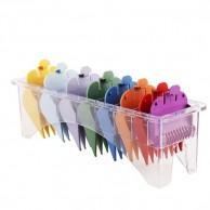 Pack 8 peines separadores de colores universal para máquinas Wahl - Captain cook - Barber Line comprar mejor precio | reclames maquinas wahl | peines wahl | comprar peine wahl barato