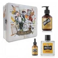 Proraso - Estuche Metal cuidado de barba madera y especias línea Amarilla pack regalo Hombre