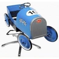 Silla Infantil de Peluquería Azul Vintage Carreras