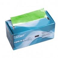 Rollo papel aluminio Verde mechas bobina papel plata para peluquería 100 metros | comprar Rollo papel aluminio VERDE mechas barato | mejor precio papel plata color verde para peluquería para mechas y tinturas