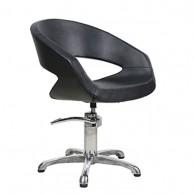 Silla de Peluquería Moderna Oval Hidráulica Negra