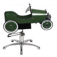 Silla Infantil de Peluquería Verde Vintage Retro