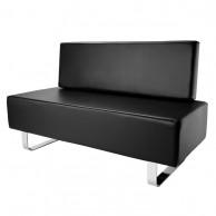 Sofa Espera 3 plazas polipiel negro mobiliario peluquería y estética  | Comprar sofá Peluquería Barato | venta de sofá para Peluquería al Mejor Precio | Oferta