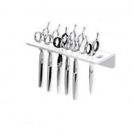 Soporte 9 tijeras pared de Diseño para peluquería  | Comprar soporte para tijeras pelquería  | Soporte pared tijeras mejor precio