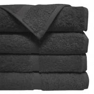 Toalla negra para barbería y Peluquería 100% algodón 40x80 Resistente a la Lejia | Comprar toalla de peluquería negra barata |  toalla negra para peluquería anti lejía