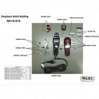 Wahl Balding 08110-016 Despiece repuesto original, cuchillas, carcasas, motor, batería, soporte cuchillas,circuito, muelle precisión, transformador, portacuchillas, tornillos, corredera, palanca, interruptor, cable