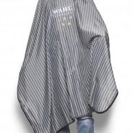 Wahl Barber Capa de corte diseño tradicional 5 star barbería y peluquería | CAPA WAHL 5 STAR | Capa de corte wahl a rayas con logotipo y 5 estrellas