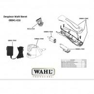 Wahl beret 08841-616 Despiece repuesto original  cuchillas, carcasas, motor, batería,base carga, circuito, transformador   Repuesto wahl máquina corta pelos beret despiece