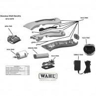 Wahl beretto 412-0470 Despiece repuesto original cuchillas, carcasas, motor, batería,base carga, circuito, transformador   Repuesto wahl máquina corta pelos beretto despiece