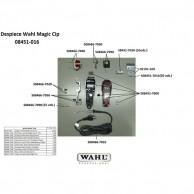 Wahl Magic clip 08451-016 Despiece repuesto original  , cuchillas, carcasas, motor, soporte cuchillas,circuito, muelle precisión, transformador, portacuchillas, tornillos, corredera, palanca, interruptor, cable