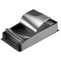 Dispensador papel aluminio gofrado mechas 100 hojas con hoja transparente peluquería