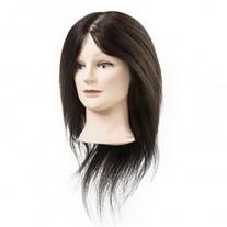Maniquí cabello natural 100% 35-40 cm con pestañas postizas Emily