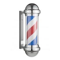 Poste de Barbero grande, Pirulo Giratorio Luminoso cromado