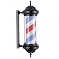 Poste de Barbero Negro, Pirulo Giratorio Luminoso