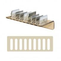 Soporte de pared para 9 cuchillas de peluquería