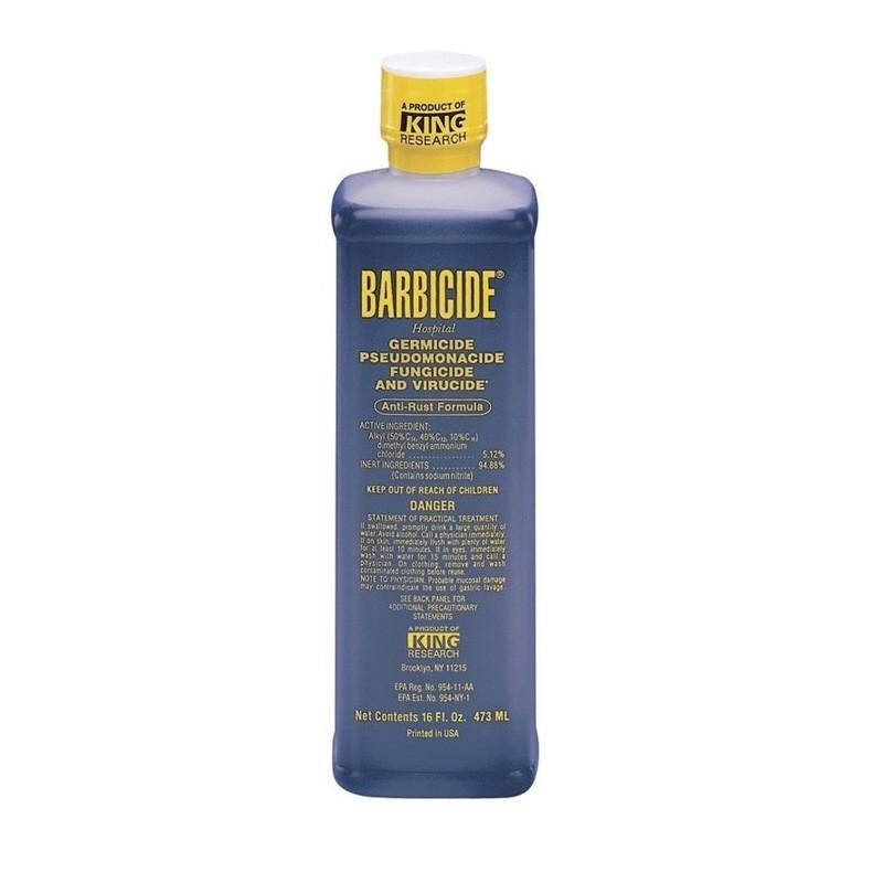 Barbicide Concentrado 480 ml desinfección de tijeras, peines y utensilios manicura