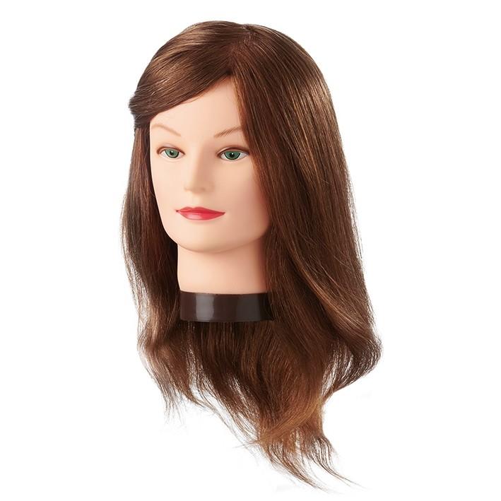 Cabeza Maniquí Amber 25-40 cm pelo natural cabello 100%| Comprar Cabeza de Peluquería Barata | Venta Cabezas de Maniquíes para Academia al Mejor Precio | Oferta