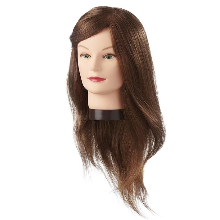 Cabeza Maniquí Jenny 45-50 cm pelo natural castaño claro | Comprar Cabeza de Peluquería Barata | Venta Cabezas de Maniquíes para Academia al Mejor Precio | Oferta