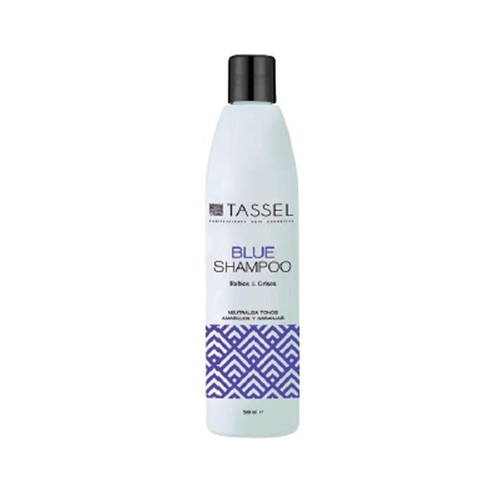 Champú azul para cabellos rubios y blancos - Tassel   comprar champú para eliminar pelo amarillo al mejor precio   Champú cabellos rubios   Champús Tassel más baratos