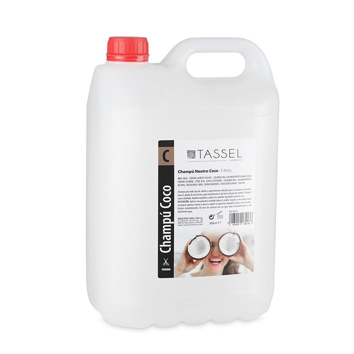 Champú Neutro coco - 5 Litros Tassel   comprar champú neutro olor coco al mejor precio   Champú coco barato en en garrafas para peluquería profesional granel